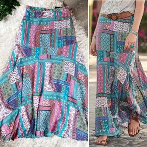 Sundance Findlay Patchwork NWT Skirt Tolani Teal M